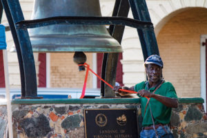 The bell was tolled in remembrance of the people who helped build the ICM and have since passed away.