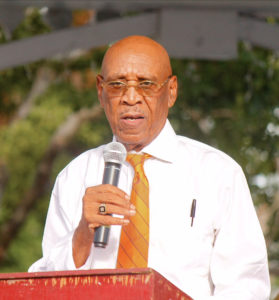 Former Sen. Liston Davis, a long-time ICM member, was master of ceremonies for Sunday's event.