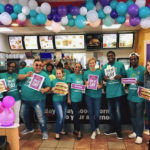 Bouncy soca tunes, lively company and charitable giving made for a Great Day at Mc Donalds restaurants on Friday.