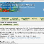 Screen capture of the DLCA licensing page.