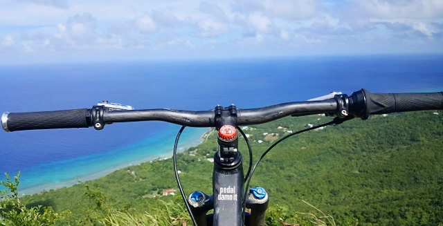 Biking to the top of Mt. Eagle. (Photo by Aaron Hutchins)