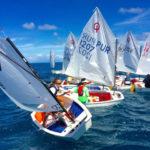 Advanced Optimists are set to race in the Buck Island Channel, 2017 Crucian Open Regatta. (Anne Salafia photo)