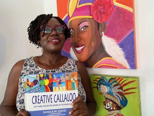 "St. Croix artist Danica David's signature style – bright, bold colors and strong graphics – highlights her book, ""Creative Callaloo."""
