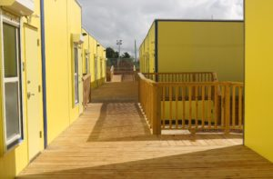 Modular campus at Ricardo Richards School. Senators said Wednesdat that for the cost of the temporary facilities the territory could have built four permanent schools. (File photo)