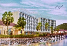 Concept drawing of proposed hotel at Yacht Haven Grande presented to the V.I. Legislature in 2018. (V.I. Legislature image)