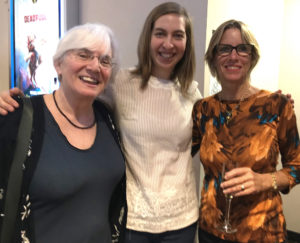 "From left, pianist Jacqueline Schwab, Elizabeth Herzfeldt-Kamprath, filmmaker and Toni Lance at the premier showing of ""Under Her Wing."""