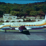 A LIAT plane on the runway.