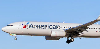 An American Airlines 737 Max 8.