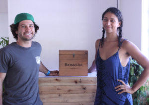Elizabeth Nurse and Tyler Rice founded Breathe St. Thomas as a non-profit organization where proceeds from the studios' yoga classes are used to fund community outreach projects centered around providing trauma relief. (Bethaney Lee photo)