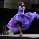Model Natasha Sinanan is a swirl of color in the High Fashion category Sunday in the St. Croix Style Fashion Week finale. (Linda Morland photo)