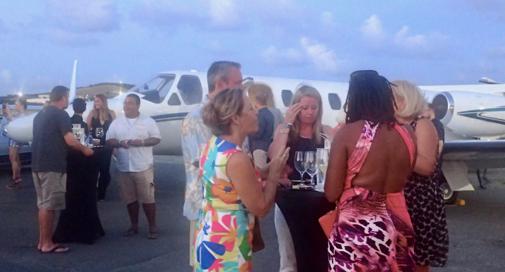 Dozens of people boarded aircraft Saturday night, but none of the planes took off – the occasion was a flight-themed fundraiser for the St. Croix Foundation for Community Development.