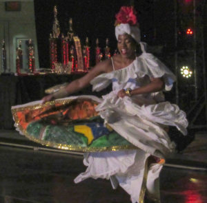 Cha-Niesha Rhymer portrays Mary Ann Golden-Christopher during the 'Lady of Yesteryear' segment of the pageant.