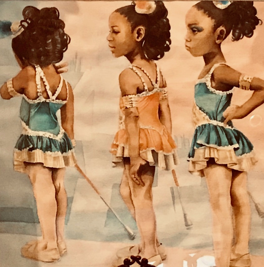 The watercolor painting 'Celebration,' by St. Croix Central High School senior Alayna Caraballo, was the winning U.S. Virgin Islands entry in the Congressional Art Competition. (Elisa McKay photo)