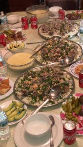 Mansaf, a lamb-based dish.