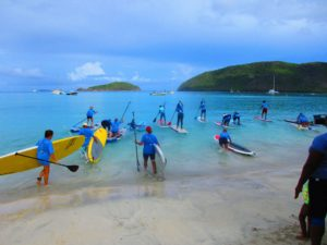 St. Thomas Yak Shack paddle boarders compete on St. John in November. (Photo provided by Milton Turnbull)