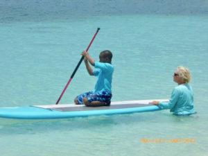 Sharie Smyth teaches paddle boarding. (sap photo)