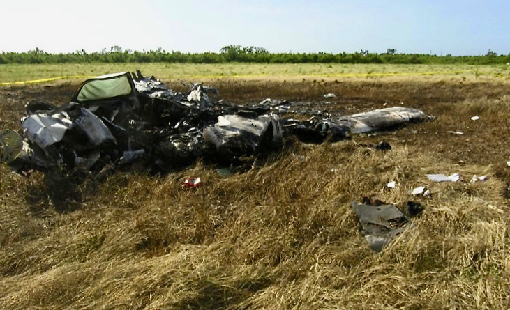 Main wreckage of the plane that crashed in December 2017, killing all five aboard. (Photo from National Transportation Safety Board)