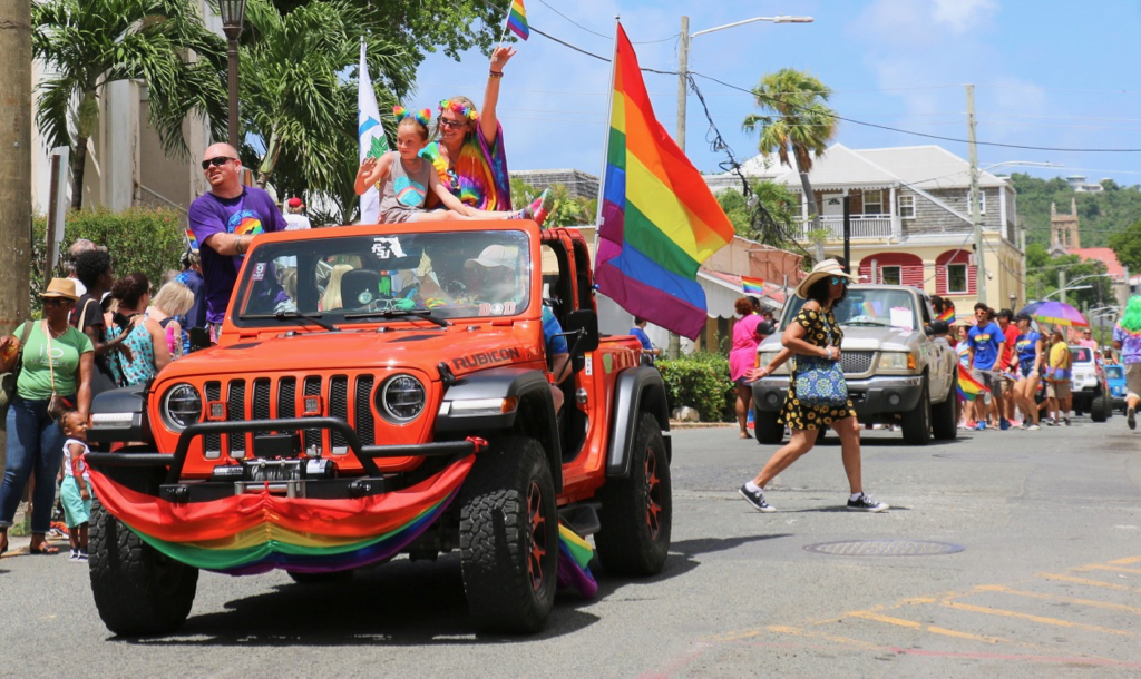 It was a sea of colors as people of all ages participated in the 2019 St. Croix Pride Parade. (Linda Morland photo)