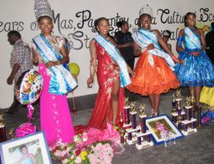 From left: 2019 Miss St. John Festival Queen Lenisha Richards, Queen Contestant No. 1 Zakiyah Gregoire, 2019 Junior Miss St. John Festival Tamyra Bartlette, and Junior Miss Contestant No. 1 Je'Nique Sylvester.