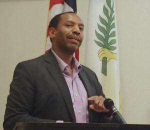 RTPark Executive Director Peter Chapman introduces new programs to the public. (Susan Ellis photo)