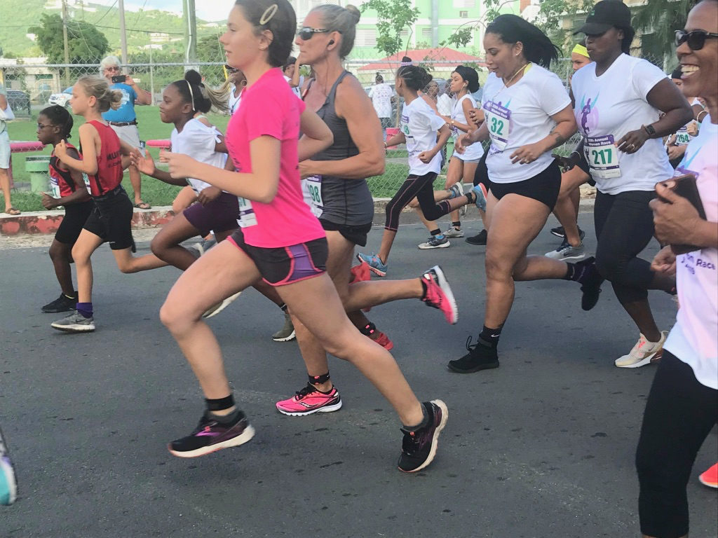 Women of all ages take off on the opening steps of the Women Race. (Elisa McKay photo)