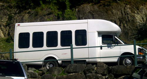 Dial-A-Ride van. (Photo from St. John Tradewinds)