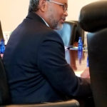 Senior Executive Vice President and Chief Operating Officer Ganesh Kumar answers questions after his presentation prepared for the Virgin Islands Banking Board. (Source photo)
