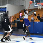 Shakoy Peters hits a lay-up in the second half for a USVI All-Star team that fell to Northern Kentucky on Wednesday night. (Source photo by Kyle Murphy)