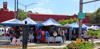 Crowds gather at Vendors Plaza on St. Thomas. (File photo by the USVI Legislature)