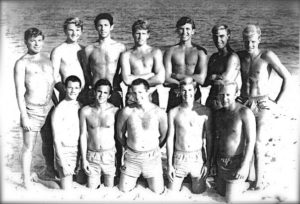 Don Edwards was lifeguard in New York before moving to St. Thomas. This photograph was taken in 1963 and features Jeff Nalvin, Don Edwards, David Epstien, Dana Wallace, Chuck Edwards, Ohn Rifkin, Michael Kiddon, Wally Pickard, Joel Steiger, Pat Gilespie, Walter Dickey, and Frank Dune. (Photo provided by Don Edwards)