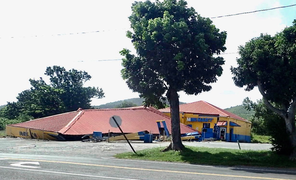 Minimart lays as it fell during the 2017 hurricanes. (Source photo by Susan Ellis)