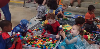 Children of all ages joined in interactive play at the Halloween event Saturday. (Source photo by Susan Ellis)