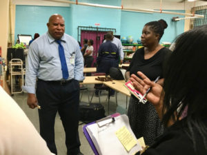 St. Croix insular superintendent Carlos McGregor takes a question from a participant. (Source photo by Susan Ellis)