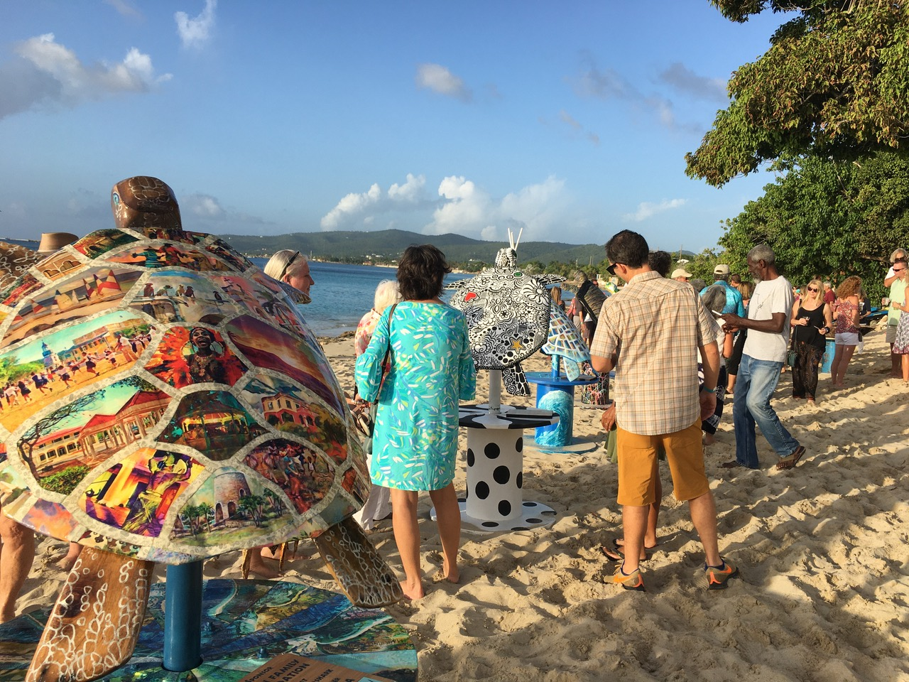 More than 200 people enjoyed the 'Turtle Hatching Saturday' on the beach at Sand Castles. (Source photo by Susan Ellis)