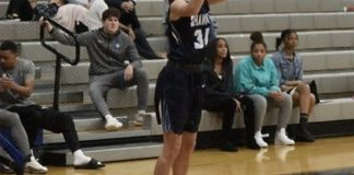 Bailey Cummins of Shawnee State University puts up a jump shot against the visiting University of the Virgin Islands women. Cummins led all scorers with 27 points and during the game notched the 1,500th point of her college career. (Photo from the SSU athletic department)