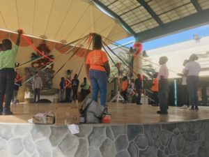 Young Crucians learn the steps and the history of the Maypole. (Source photo by Elisa McKay)