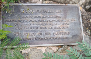 This plaque dedicates Peace Hill for the practice of peace. (Source photo by S. Pennington)