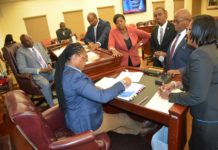 The Rules and Judiciary Committee gather on Thursday to discuss nine different bills. (Photo Barry Leerdam, USVI Legislature)