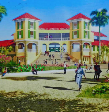 An artist drawing of the proposed Paul E. Joseph Stadium. (Submitted draing)