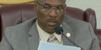 Senate President Novelle Francis presides over the Legislature Wednesday. (V.I. Legislature photo)