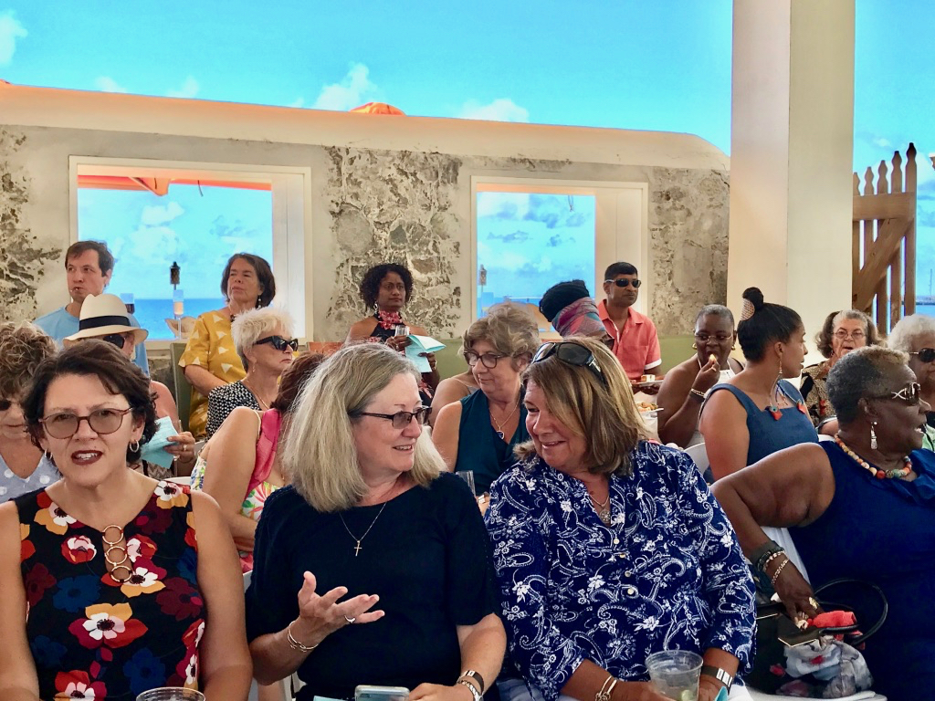 Audience buzzes at the Fashion Fest in Frederiksted. (Source photo by Elisa McKay)
