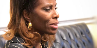Delegate to Congress Stacey Plaskett discusses Trump's State of the Union speech, which she considered 'a call to action.' (Source photo by April Knight)