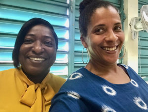 Shermira Mercado, left, head of the English Department at SCEC, and speech and drama teacher Sayeeda Carter. (Submitted photo)