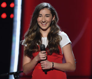 Allegra Miles auditions on the NBC's 'The Voice.' (Photo by: Mitchell Haddad/NBC)