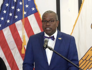'We are hoping for the best, but we are preparing for the worst,' Gov. Albert Bryan said Monday in discussing the new coronavirus. (Source photo by James Gardner)