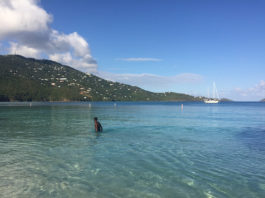A many enjoys an early morning swim at Magens Bay. Such simple pleasures are on hold due to Gov, Albert Bryan Jrs.. order closing the beaches. (Source file photo by Kelsey Nowakowski)