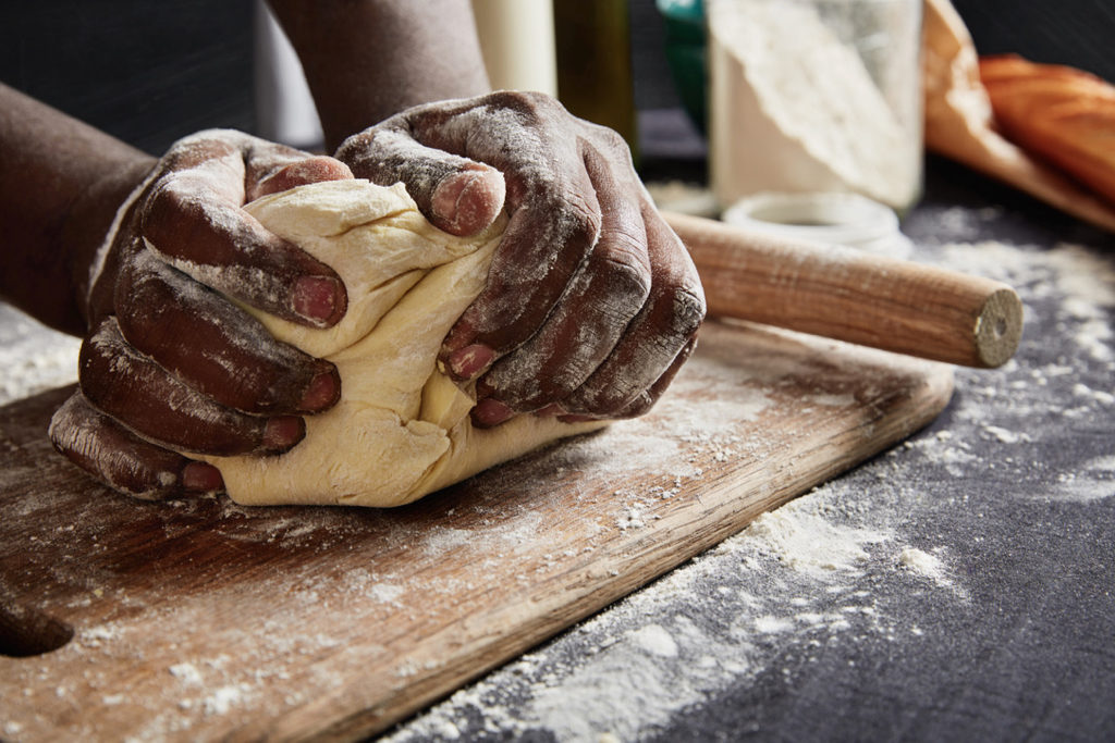 Baking or cooking can be a relaxing activity and a way to be mindful of your eating habits. (Shutterstock image)