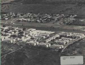 The original Louis E. Brown Villas as they appeared in 1985. (Image provided by the V.I. Housing Authority)
