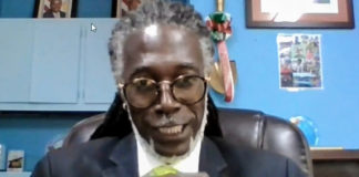 USVI Department of Agriculture Commissioner Positive Nelson testifies virtually before the Rules and Judiciary Committee. (Screenshot of streamed session)