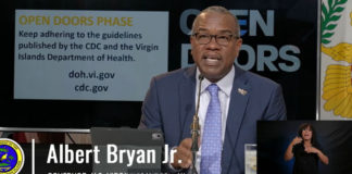 Gov. Albert Bryan Jr. warns that businesses may be shutdown if public health guidelines are not enforced.